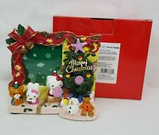 Sanrio HELLO KITTY Musical CHRISTMAS PICTURE Photo Frame RARE & NEW in BOX