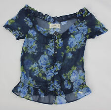 ABERCROMBIE KIDS GIRLS FLORAL KNIT TOP SIZE SMALL NEW!