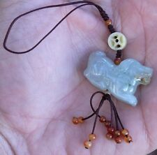 Authentic Hand Carved Natural Jade Stone Dog Zodiac Charm