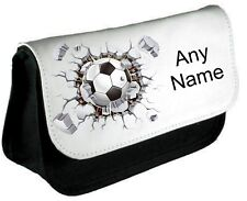 Personalised FOOTBALL WALL Pen/Pencil Case *Choice of text colour*
