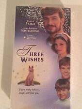 Three Wishes, Patrick Swayze, Mary Elizabeth Mastrantonio, VHS, 1995, HBO