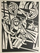 Carl Barth: Geburt Christi - Signierter Orig. Holzschnitt