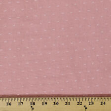 Cotton Swiss Tufted Dot Pink Fabric by the Yard D171.05