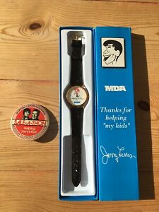 Jerry Lewis Watch MDA Pin Back Button Vintage