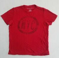 Vintage Aeropostale '87 NY Red Thin T-Shirt Men's Medium YE