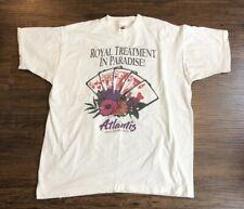 Vtg 90's Men's Xl Atlantis Casino Resort Royal Treatment Single Stitch T Shirt