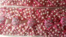 Joblot 12pcs Pink Pearl Bow Design Sparkly hairclips hairgrips NEW wholesale