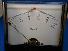 """SIMPSON 99980EE774-3   VOLT METER   3 1/4"""" SQUARE NEW OLD STOCK"""