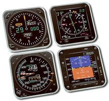 NEW - Trintec Modern Square Acrylic Instrument Coasters  - Set of 4 | 9099