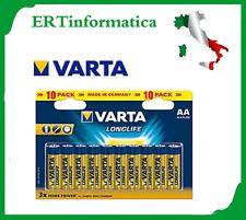 BLISTER 10 BATTERIE PILE AA STILO VARTA LONGLIFE ***TELECOMANDO OROLOGIO+++