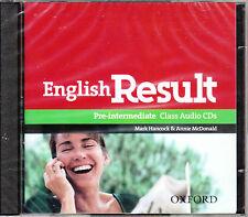 Oxford ENGLISH RESULT PRE-INTERMEDIATE Class Audio CDs (2) @NEW Sealed@