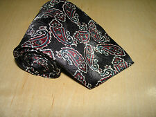 David Taylor Black Paisely Tie Multi-color 56L 3-3/4W Made In The USA T-5
