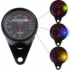 Universale LED 160km/h Contachilometri Moto Motociclo Tachimetro Nero Indicatore