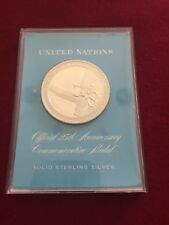 UNITED NATIONS OFFICIAL 25th ANNIVERSARY COMMEMORATIVE MEDAL