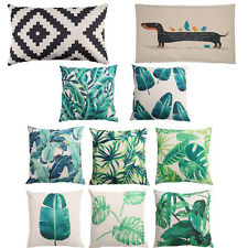 Tropical Beach Cushion Cover Rainforest Palm Banana Leaf Pattern Home Sofa Decal