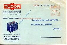 CARTE POSTALE / PUBLICITAIRE / TUDOR / MANUFACTURE D'ACCUMULATEURS 1953