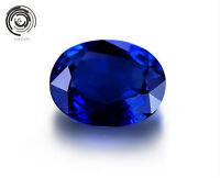 Natural Blue Zircon Gems Diamonds Oval Cut 10x14mm VVS Loose Gemstones 5Ct AAA