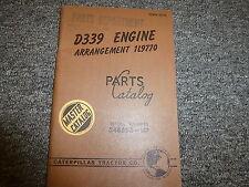 Caterpillar Cat D339 Engine Arrangement 1L9770 Parts Catalog Manual S/N 34B598-