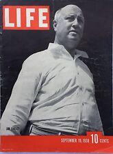 LIFE MAGAZINE Sep 19 1938 * Britian vs Hitler* Gold * California * Germany's Gun