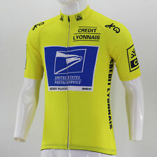 Brand New Retro Team USPS yellow Cycling Jersey Armstrong