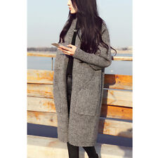 New Women Knitted Sweater Oversized Loose Batwing Sleeve Tops Cardigan Outwear