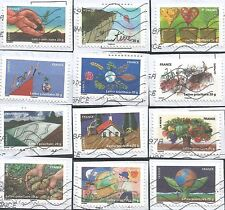 "˳˳ ҉ ˳˳FR38 France Ecology ""La Terre"" 2011  complete set 12 used"
