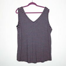 Maurices Tank Top Womens 2 = 2X Navy Blue Pink White New with tags