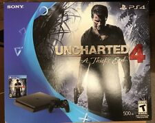 Sony PlayStation 4 Slim 500GB Console Uncharted 4 A Thief's End PS4 Game Bundle