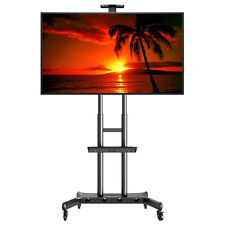 """Rolling TV Stand Cart Mount Wheels for OLED, LED, Flat Screen - fits 32"""" - 70"""""""