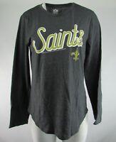 New Orleans Saints NFL Women's G-III Long Sleeve Gray Shirt XS-2XL