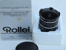 """Rollei SL35 Carl Zeiss 16mm f:2.8 HFT F-Distagon lens near MINT IN BOX """"LQQK"""""""