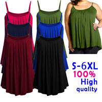 Women Sleeveless Loose Chiffon Camisole Summer Casual Tank Tops Vest Plus Size