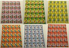 6 Republic TOGOLAISE WALT Disney Animation Topical Stamps Postage Blocks MINT NH