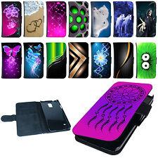 Hülle für Smartphone Book Tasche Handyhülle  Design Flip Case Cover Etui Motiv