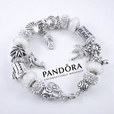 Authentic Pandora Sterling Silver White Beach Bracelet