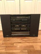 Vintage YORX AM-FM Multiplex Receiver/ Dual Cassette M2203B W/ Record Player