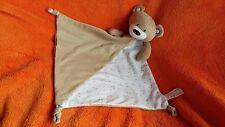 """Next Beige Teddy Bear Soft Toy Comforter Cotton 15"""""""