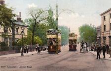London Road - LEICESTER - Original Unused Postcard (136ED)