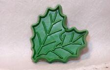 Hallmark Vintage Plastic Cookie Cutter - Petite Holly Leaves Christmas Nature