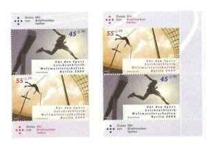 Bund, Lot Zusammendrucke Leichtathletik WM 2009 in Berlin, postfrisch, **