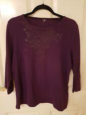 Ladies size 14 Neat Purple 3/4 Sleeve Top
