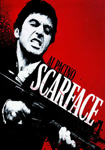Scarface Al Pacino Vintage Movie Giant Poster - A0 A1 A2 A3 A4 Sizes