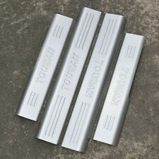 4Pcs Stainless Steel Inside Door sill scuff plate Guards Sills For Vw Touran