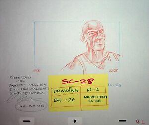 MICHAEL JORDAN Production SPACE JAM Hand Drawn Storyboarding Art NBA #AD