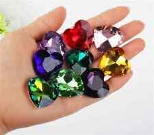 12pcs 27mm point back rhinestone heart shape crystal glass beads DIY gem stone