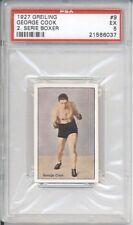 1927 Greiling GEORGE COOK #9 PSA 5 EX Vintage Boxing Card