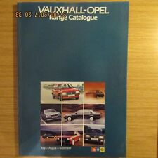 Vauxhall-Opel Nova Chevette Astra Cavalier Manta Carlton Senator Monza Brochure