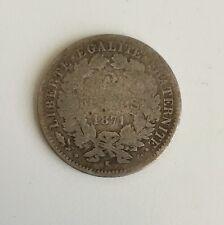 M91: 2 Francs Cérès 1871K Monnaie Française En Argent Voir Photos