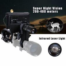 720P Screen Night Vision Scope Optics Camera Laser w/ IR Flashlight add on rifle