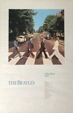 """Rare BEATLES ABBEY ROAD Poster 1987 Apple Corp Ltd Determined Productions 24x36"""""""